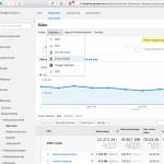 Steg 1: Exportera adresser från Google Analytics