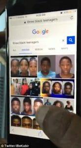 Tre svarta tonåringar på Google bildsök
