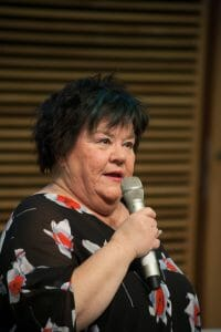 Ann Westin stod för det komiska inslaget