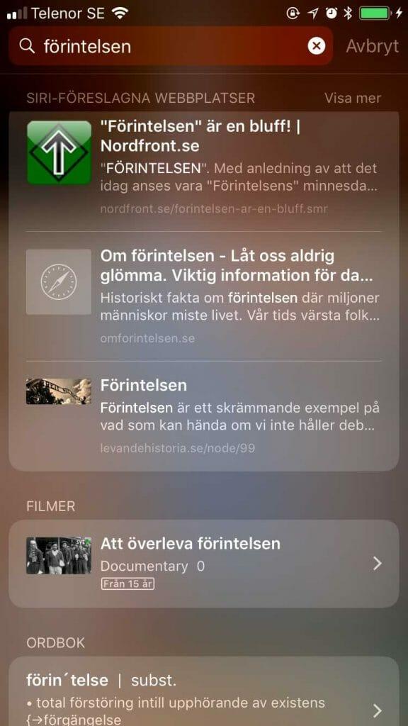 Apple tipsar om förintelseförnekelse hos Nordfront