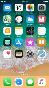 Appen på startskärm för Iphone