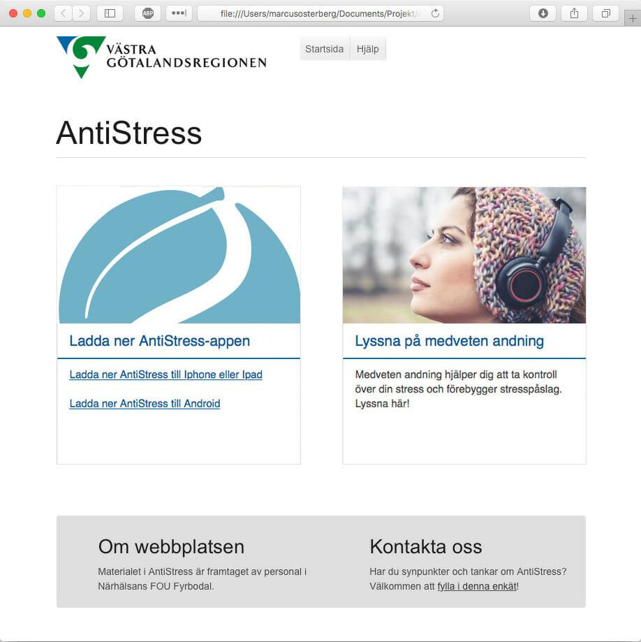 Antistress som mikrowebb