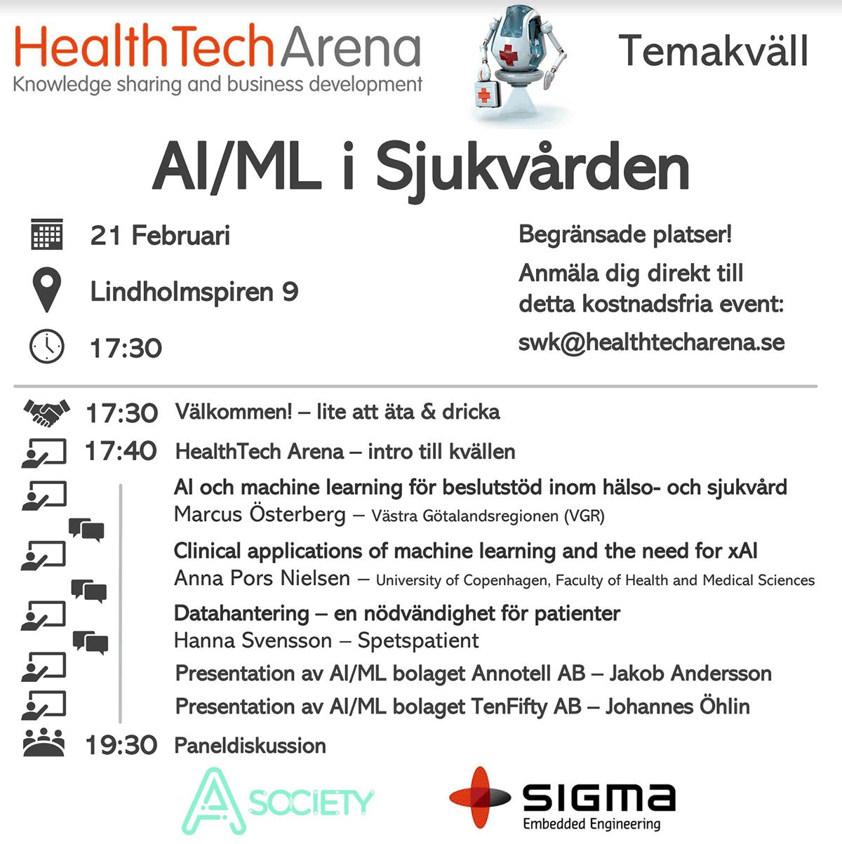 HealthTech Arena - temakväll om AI i sjukvården