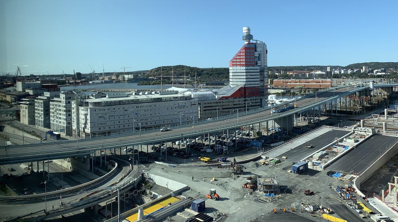Läppstiftet i Göteborg, sett från Nya Regionens hus