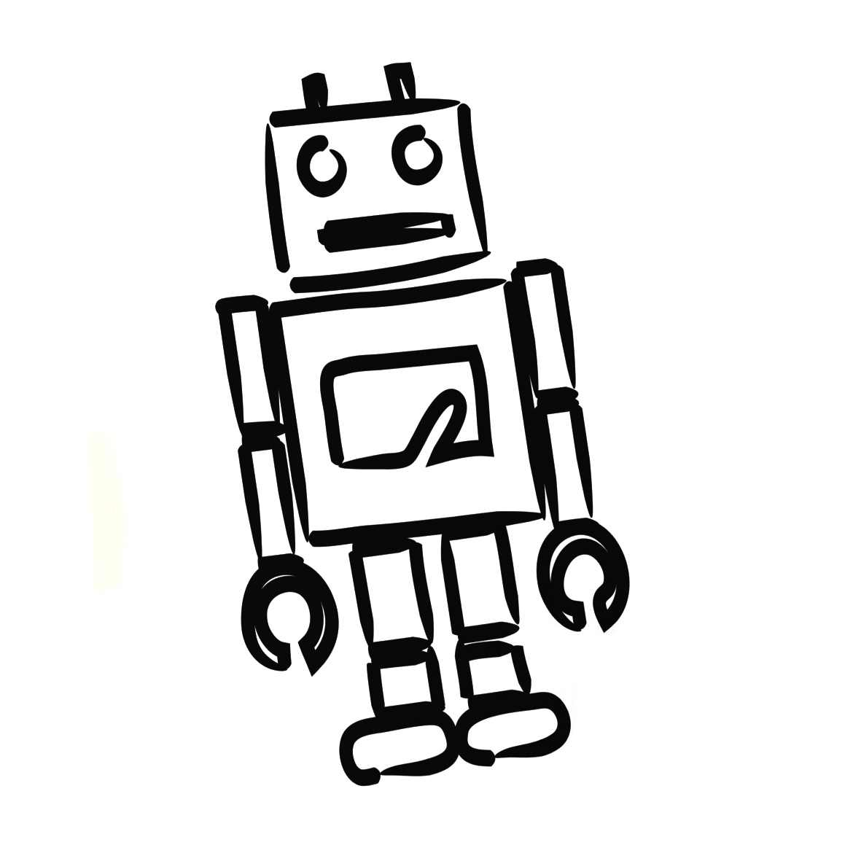 Robotmaskot för Swelife AI-projektet