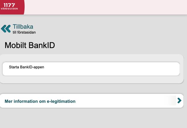 Bild 6: Användaren uppmanas öppna sin bankid-app.